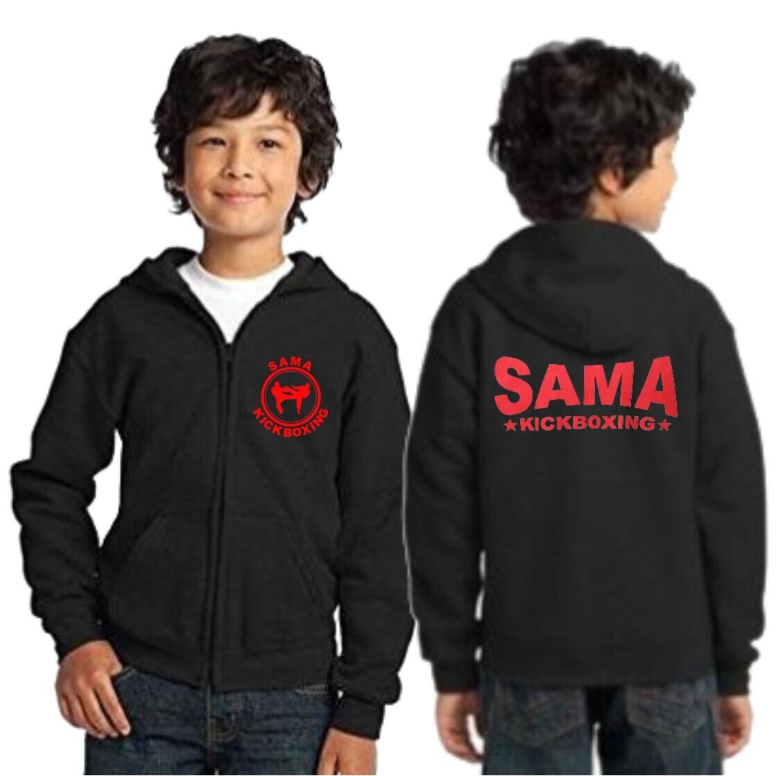 SAMA Kids Kickboxing Zip Up Hoody