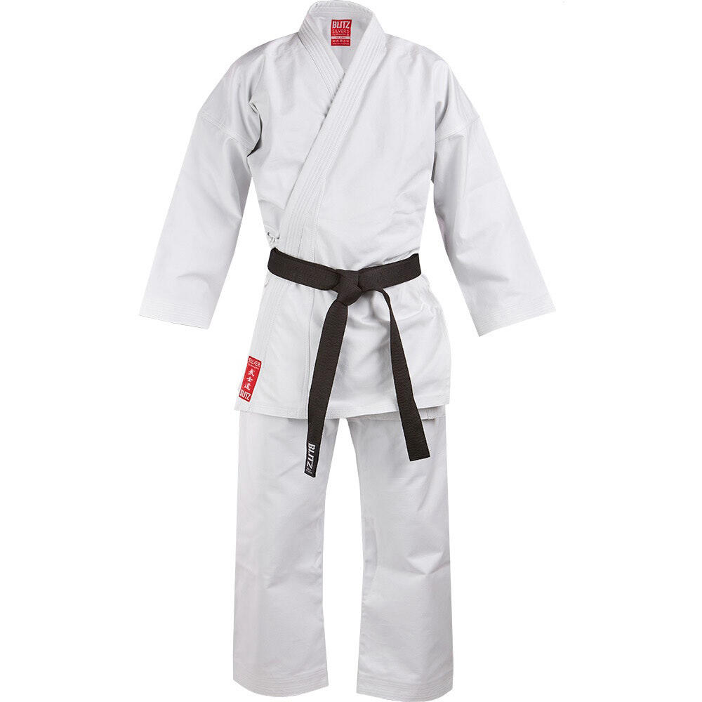 Adults Blitz Silver Tournament Heavy Weight Karate Suit